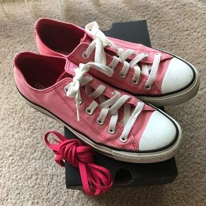 Pink Converse Women's size 8